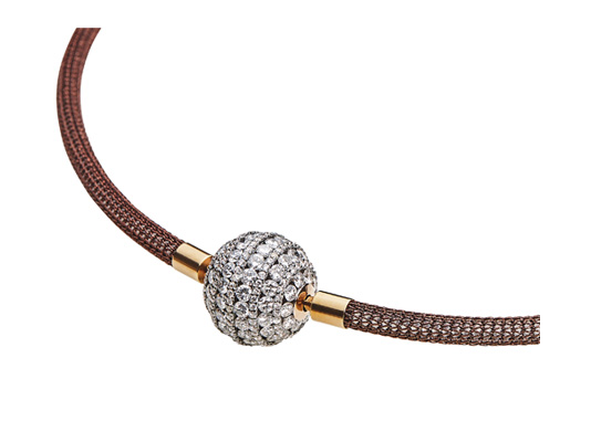 "Diamant-Collier ""Big Ball"" aus Roségold mit Diamanten in Hamburg kaufen, bei Juwelier Wilm, Ballindamm"