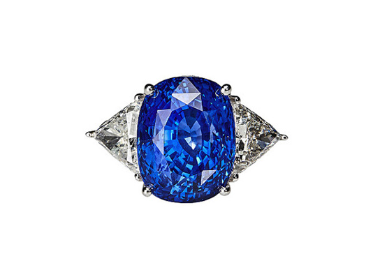 Ring Ceylon-Saphir 22,14ct, Diamanten & Diamanten vom Hamburger Juwelier Wilm kaufen